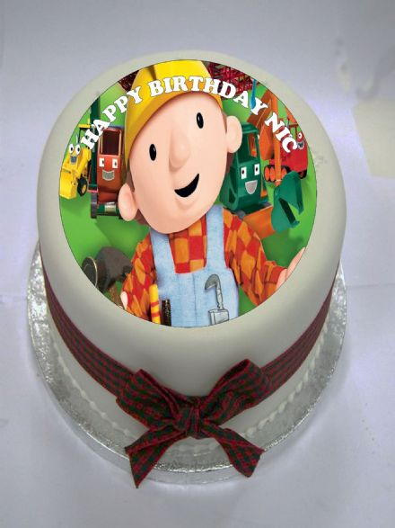 Bob the Builder Edible Cake Topper